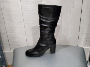 Demi bottes noires avec soufflets