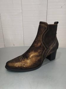 Bottines cuir bronze femme