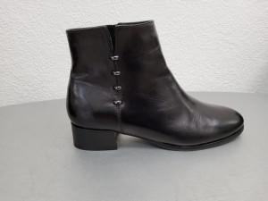 Bottines noires cuir femme