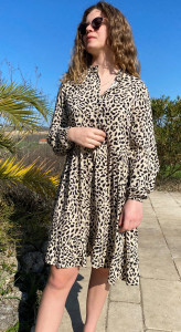 Robe imprimé animalier femme