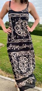 Robe longue à bretelles imprimé
