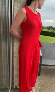 Combipantalon rouge femme