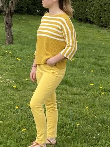 Pantalon droit curry femme