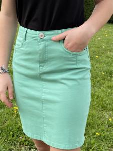 Jupe courte verte femme