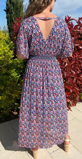 Robe longue colorée fluide femme