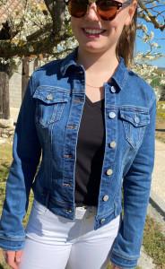 Veste jean brut femme