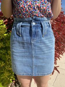 Jupe jean courte femme
