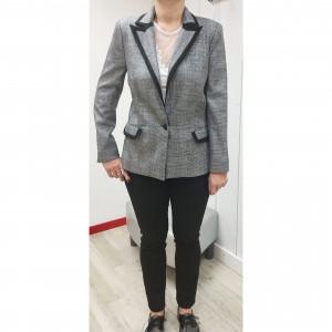 Veste blazer argentée femme