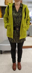 Veste laine bouillie à capuche