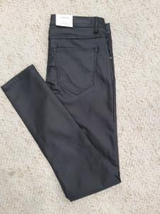 Pantalon enduit noir slim fit
