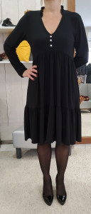 Robe noire à volants femme