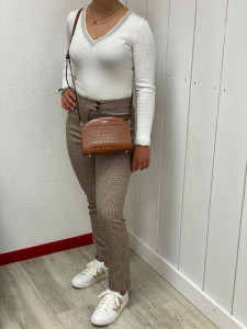 Pull chaussette blanc
