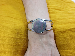 Bracelet jonc métal femme