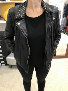 Perfecto cuir noir Furious