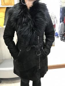 Manteau 3/4 en cuir Lyzzi