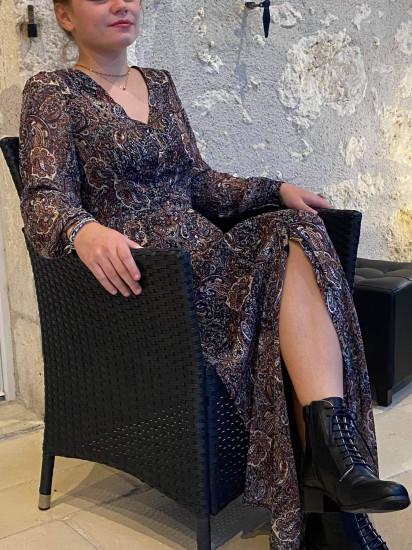 Robe longue cachemire femme