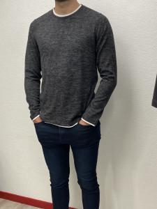 Jean skinny fit indigo used homme