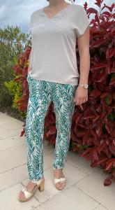 Pantalon fuselé vert femme