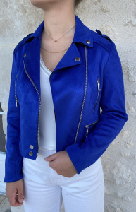 Veste zippée indigo femme
