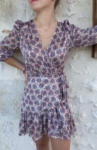 Robe droite imprimé floral femme