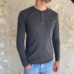 T. shirt ML gris anthracite homme