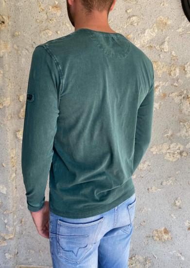 T. shirt ML vert forêt homme